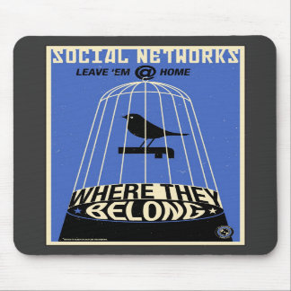 Office Propaganda: Social Network (blue) Mouse Pad