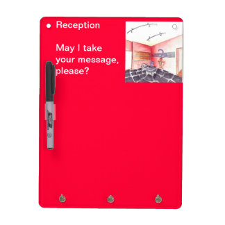 Office Reception Interior Design Rendered Perspect Dry-Erase Board