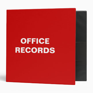 Office Records Binder (RED)