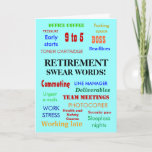 Office Retirement | Annoying Joke Swear Words Card