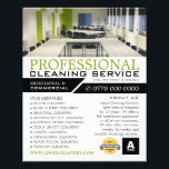 """Office Setting, Cleaning Service Advertising Flyer<br><div class=""""desc"""">Office Setting,  Cleaning Service Advertising Flyer by The Business Card Store.</div>"""