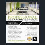 "Office Setting, Cleaning Service Advertising Flyer<br><div class=""desc"">Office Setting,  Cleaning Service Advertising Flyer by The Business Card Store.</div>"