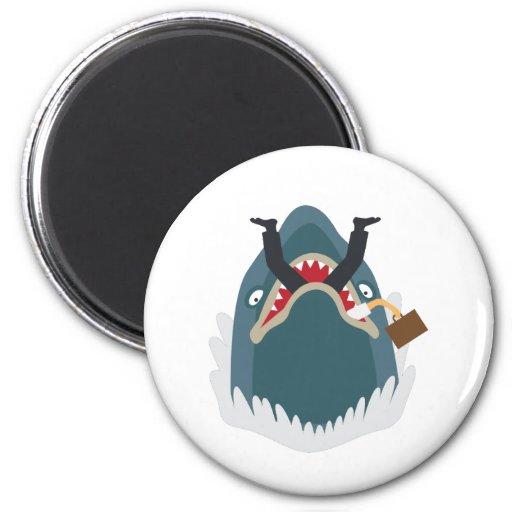 Office Shark 2 Inch Round Magnet