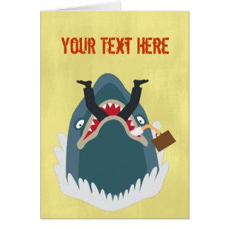 Office Shark Greeting Card