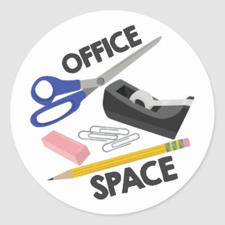 Office Space Classic Round Sticker