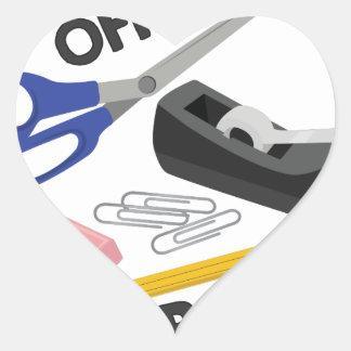 Office Space Heart Sticker