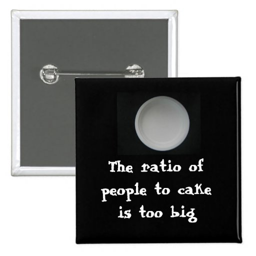 office space: Ratio of people to cake Pins
