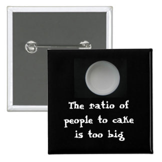 office space: Ratio of people to cake Pinback Button