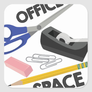 Office Space Square Sticker
