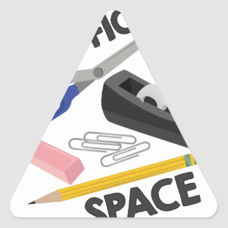 Office Space Triangle Sticker