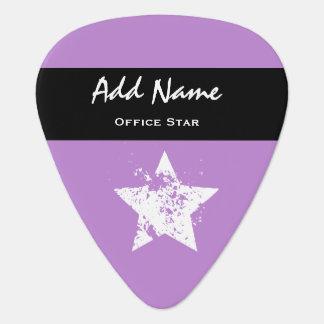 Office Star Purple Background Custom Name V01 Guitar Pick