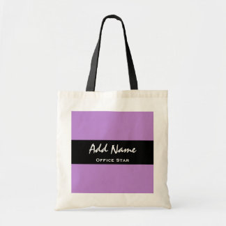 Office Star Purple Background Custom Name V01 Tote Bag