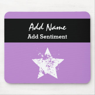 Office Star Purple Background Custom Name V02 Mouse Pad