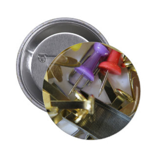 Office Stationary Pinback Button