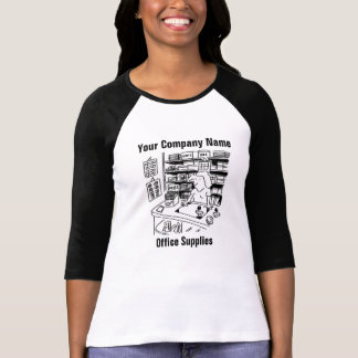 Office Supplies Cartoon T Shirt