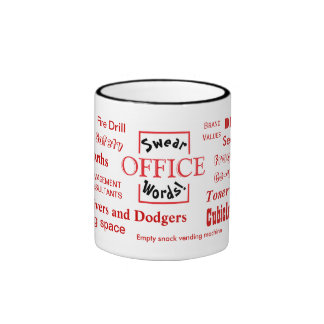 Office Swear Words! Very Rude Office Language! Ringer Mug