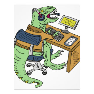 Office T-Rex Letterhead