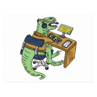 Office T-Rex Postcard