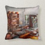 Office - The Purser's room Throw Pillows