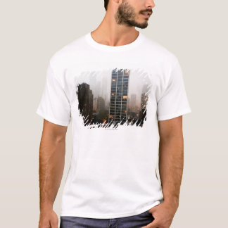 Office towers, condos and Hancock Tower in fog T-Shirt