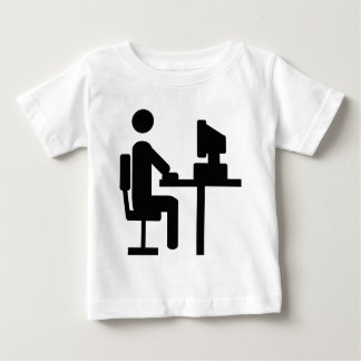 office worker icon infant t-shirt