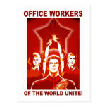 Office Workers Postcards
