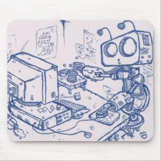 Officebot Mousemat Mouse Pad