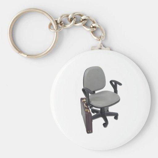 OfficeChairBriefcase102811 Llavero Redondo Tipo Pin