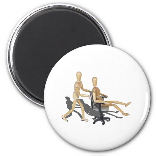 OfficeChairRaces090912.png Refrigerator Magnet