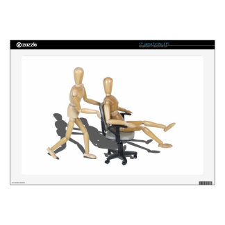"""OfficeChairRaces090912.png Skin For 17"""" Laptop"""