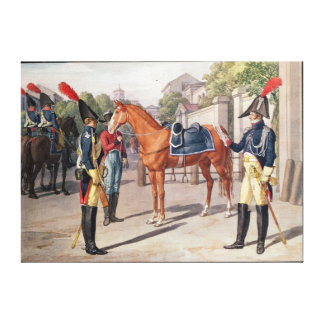 Officer and Guard of the Royal Guard in 1826 Canvas Print