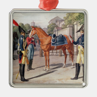Officer and Guard of the Royal Guard in 1826 Metal Ornament