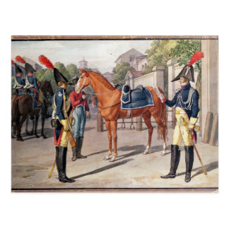Officer and Guard of the Royal Guard in 1826 Postcard