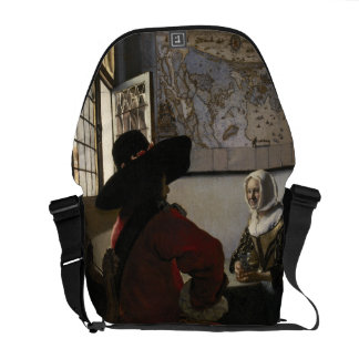 Officer and Laughing Girl by Johannes Vermeer Courier Bag