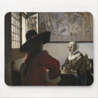 Officer and Laughing Girl by Johannes Vermeer Mouse Pad