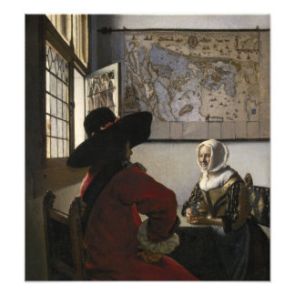 Officer and Laughing Girl by Johannes Vermeer Photo Print
