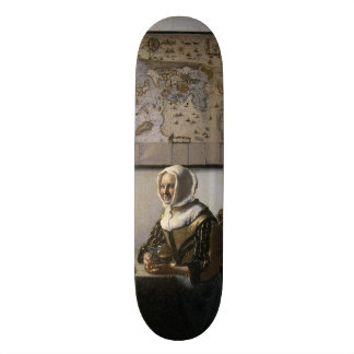 Officer and Laughing Girl by Johannes Vermeer Skateboard Deck