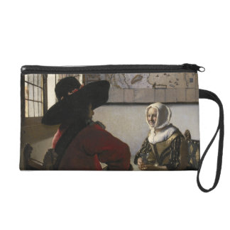 Officer and Laughing Girl by Johannes Vermeer Wristlet