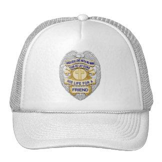 Officer Badge - Thin Blue Line Trucker Hat