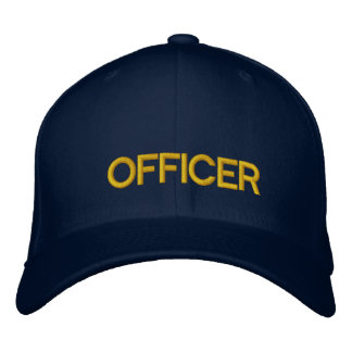 OFFICER EMBROIDERED BASEBALL HAT