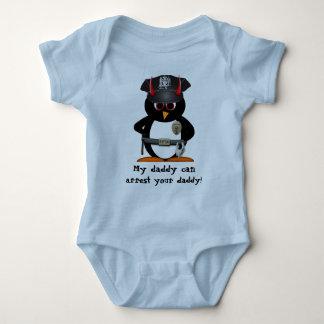 Officer Evil Penguin Baby Bodysuit