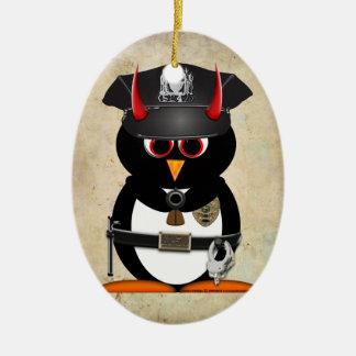 Officer Evil Penguin™ Christmas ornament