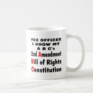 Officer I Know My ABC's 2nd Amendment The Bill Coffee Mug