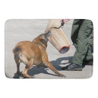officer k9 training arm bite painting dog canine bathroom mat