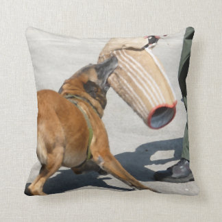 officer k9 training arm bite painting dog canine pillow