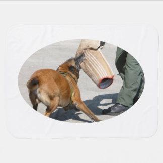 officer k9 training arm bite painting dog canine receiving blanket