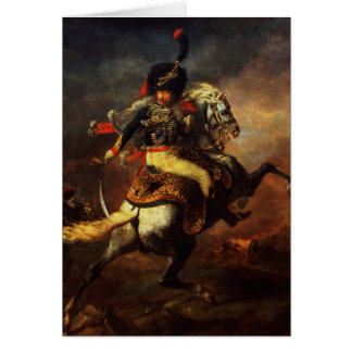 Officer of the Hussars, 1814 Card