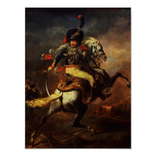 Officer of the Hussars, 1814 Print