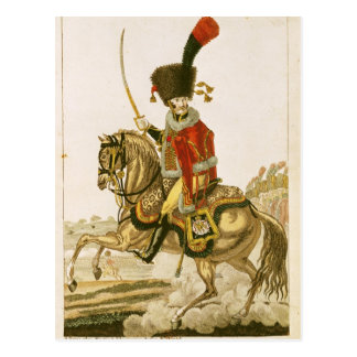 Officer of the Hussars of the Imperial Guard Postcard