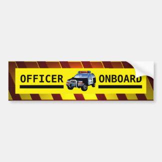 OFFICER ONBOARD BUMPER STICKER